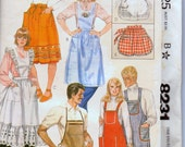 Vintage 1982 Sewing Pattern McCall's 8231 Aprons Complete