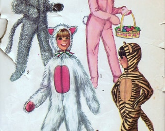 Vintage Costume Sewing Pattern Simplicity 9050 Boys' & Girls' Animals Size 10 Complete