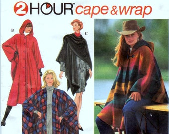 Sewing Pattern Simplicity 9223 Misses' Cape and Wrap  Uncut Complete