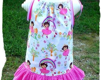 Custom DORA PillowCase Dress