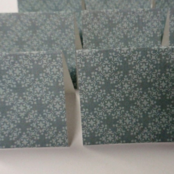 18 Mini Cards - blank for thank you notes - teal