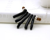Black Coral Sterling Silver Necklace - Tribal / Bohemian Ethnic Tribal Statement /  Holiday
