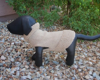 Gold Sparkle Dog Sweater Medium