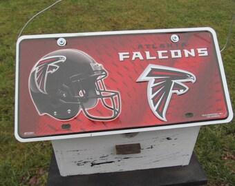 Atlanta Falcons License Plate Primitive Birdhouse Football NFL