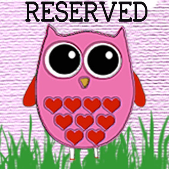 RESERVED LISTING FOR getsweetsparkles
