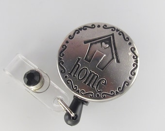 Home Badge Reel, id badge holder, retractable badge reel