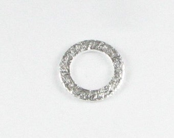10mm Bali Sterling Silver Brushed Matte Round Flat Donut Disc Connector Eternity Rings Links 10mm (4 beads)