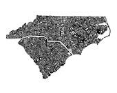 The Carolinas - typograph...