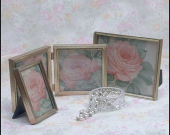 Group of Three Vintage Metal Picture Frames