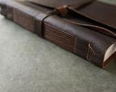 Large Leather Journal or Sketchbook - 8 x 10
