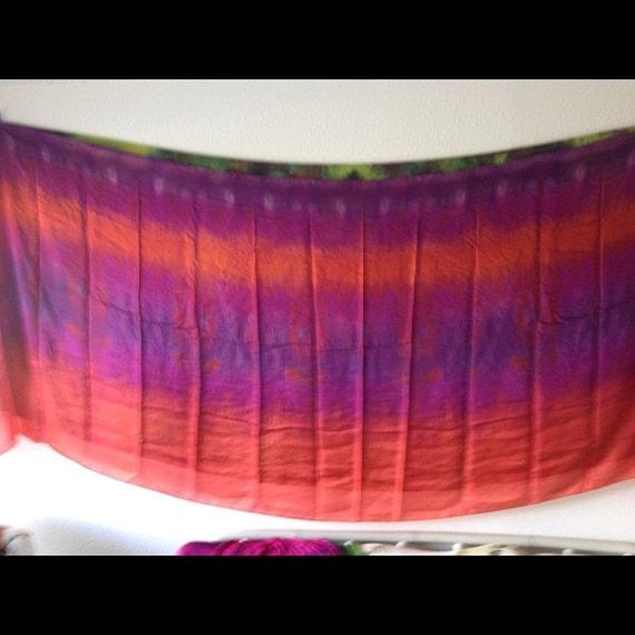 Rectangle silk veil one of a kind