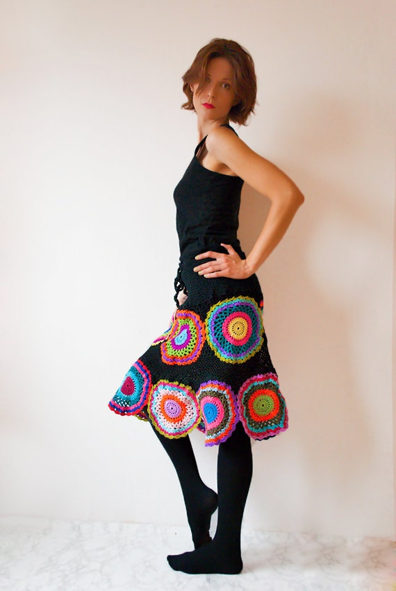 Knee Length Gypsy Circle Skirt - MADE TO ORDER