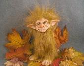 OOaK Polymer Clay Troll Art Doll Fairy Sculpture Oddfae