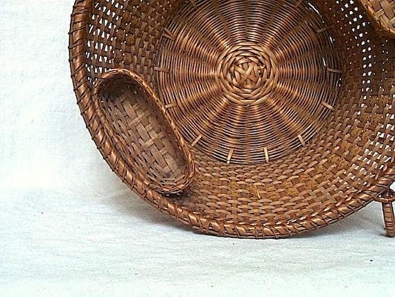 Antique Shaker sewing work basket, two boats - Shaker fancy goods