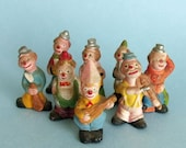 SALE Vintage musical Clowns miniature ceramic band collection