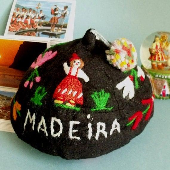 vintage madeira portugal folk hat souvenir. Black Bedroom Furniture Sets. Home Design Ideas