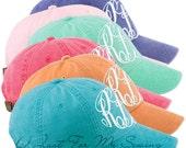 Monogram Baseball Cap-Personalized Bridesmaids Gifts - Set of 6