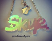 Last items RADIANT SIMPLE  name necklace laser cut