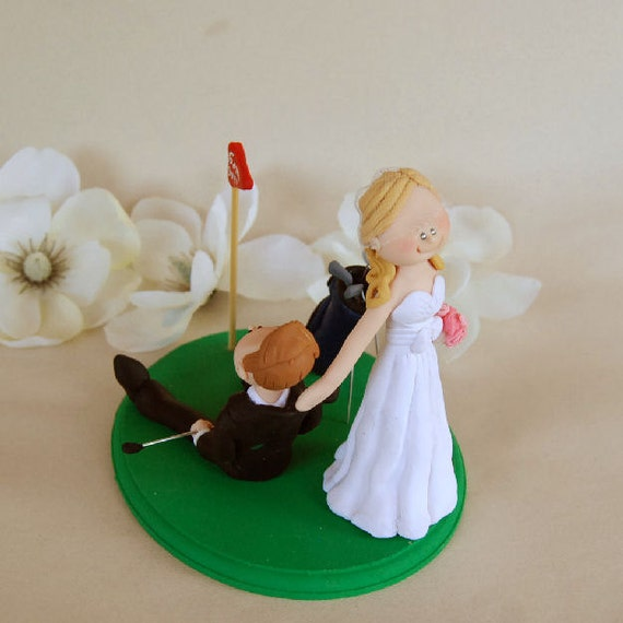 golf ball wedding cake topper unavailable listing on etsy 14842