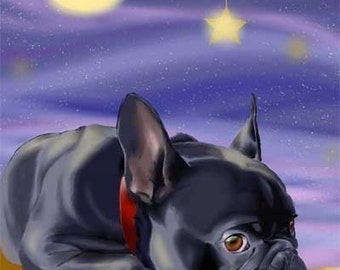 French Bulldog Slumber - Cute Dog Art Magnet