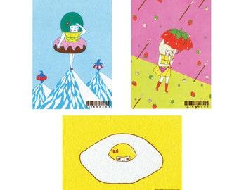 Set of Postcard  -Food-