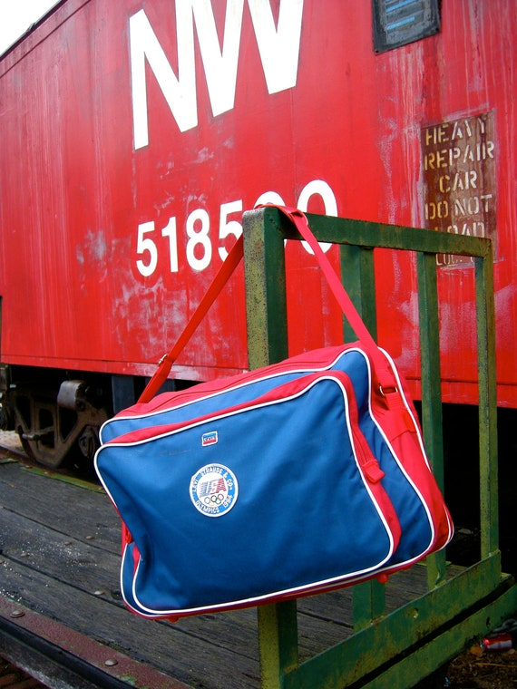 Vintage Duffle - Olympics 1984 - Red White and Blue