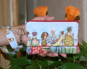 Fruit Ladies - Wristlet Purse with Removable Strap and Interior Pocket