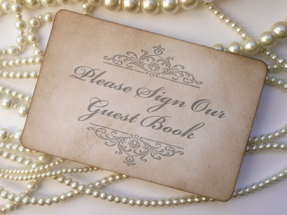 Wedding signs guest book sign and let them eat cake sign custom