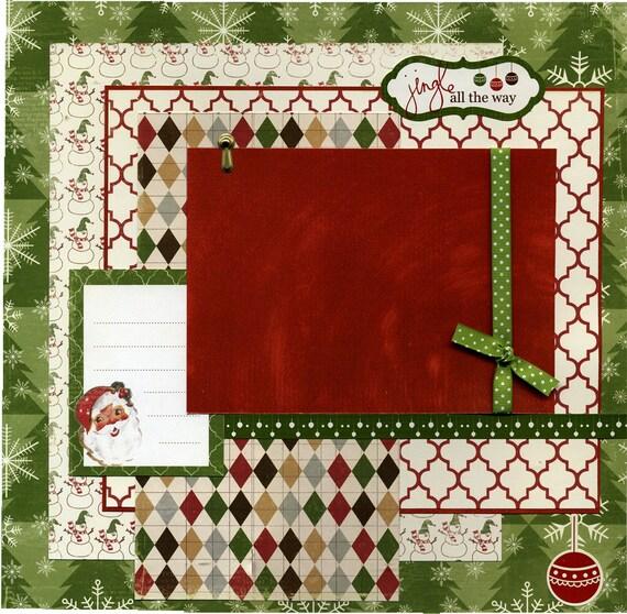 Premade Christmas Scrapbook Page Jingle All The Way