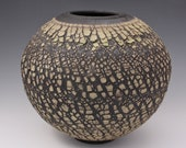 Cracked Sage Green Rustic Ceramic Vase