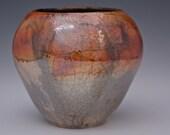 Raku Sunset Colorful Ceramic Vase