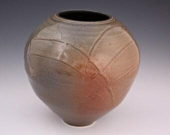 Handthrown Ceramic Slip Trailed Vase Pottery