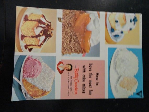 "Vintage 1950's Betty Crocker ""How to Have The Most Fun With Cake Mixes"""