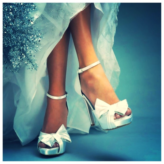 Design your own Winter Wedding Shoes Custom sparkle