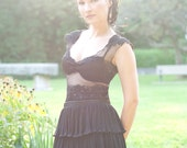 Black Lace Tunic-Made to order