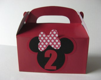 Minnie Mouse favor boxes one dozen in this listing
