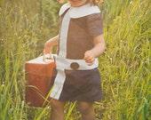 1960 Style Retro Navy Blue Lauren Dress children clothing