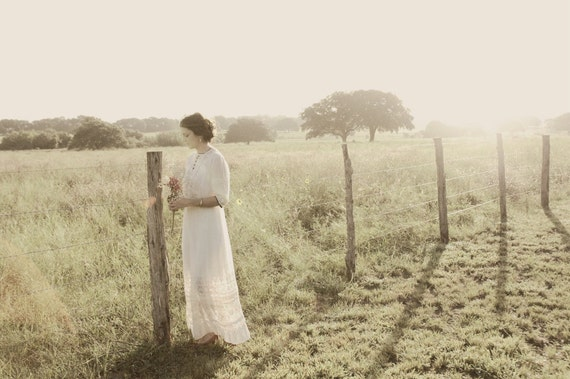 Edwardian Wedding Dress / Vintage Cotton Dress