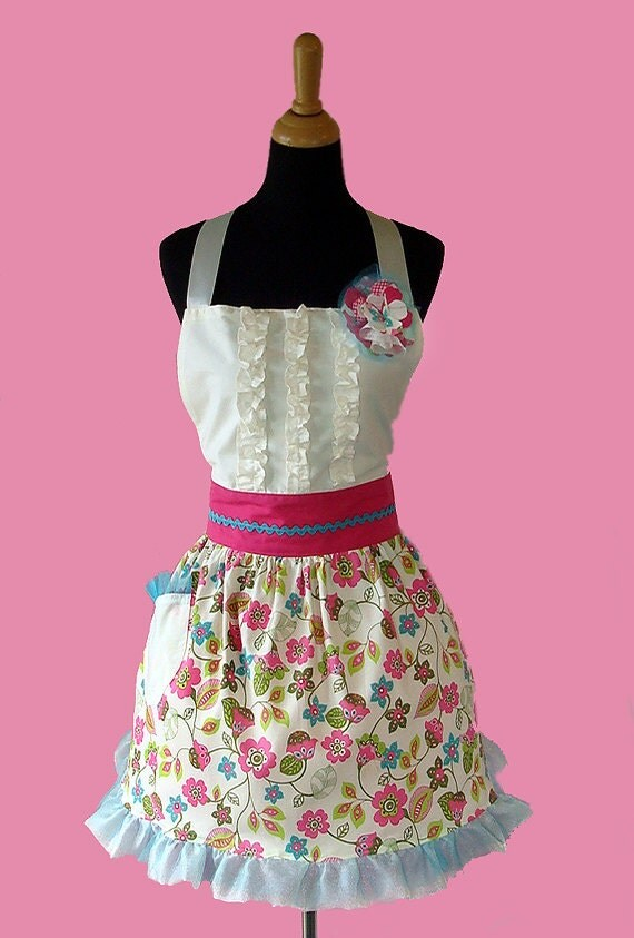 Retro Apron vintage apron with ruffle shirt retro vintage kitchen decoration aprons