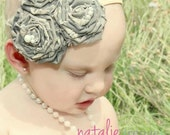 Headband - Military- Rolled Roses Fascinator - Hair Clip -  Headband - Rolled Roses - ABU ACU Navy Marine - Camo - Boutique - Photoprop