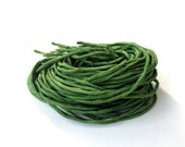Silk Cord - Hand dyed in the USA - Pine Green Silk Cord