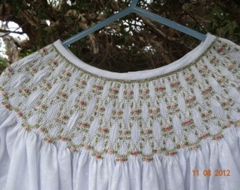 Size 4 Hand Smocked Dress