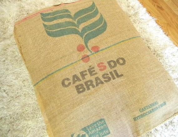 burlap floor pillow or dog bed cafe brasil
