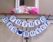 Future Mrs wedding banner Custom banner bride to be banner  bachelorette bridal shower decorations weddings