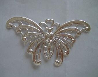 Huge Silver Butterfly 60x105mm