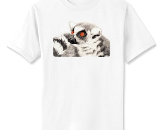 Lemur Eyes Art T-Shirt Youth and Adult Sizes