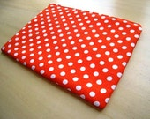 Polka Dots Tangerine Laptop cover Padded and Zipper Closure  for MacBook 13 Inch Pro or 13 Inch Air