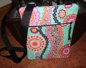Crossbody floral hipster handbag