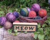 SALE-4 Wool Catnip Ball Cat Toys--Hand Felted--Animal Rescue--Free Shipping