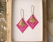 lace earrings - PHAIDRA- modern geometric earrings